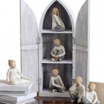 Willow Tree figurines closet to display them in